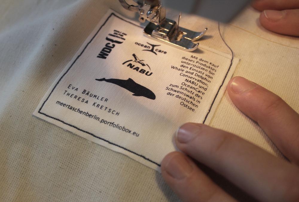 meertaschenberlin - Einnähen der Etiketten