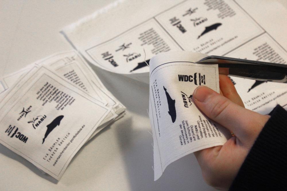 meertaschenberlin - Zuschnitt der Etiketten