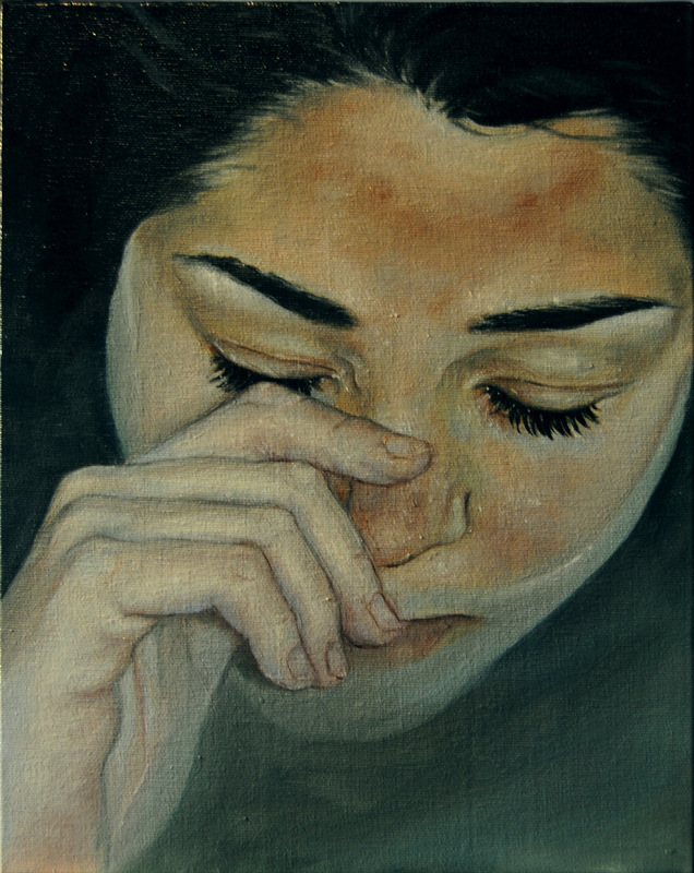 Núria Farré - Painting - Irene - Oil on canvasboard 24x19cm [2014] [SOLD]