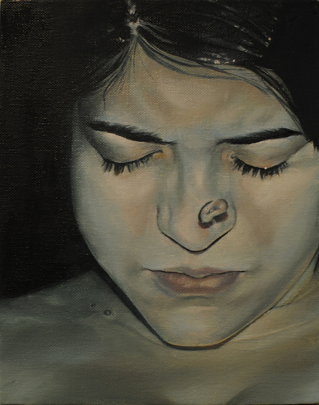 Núria Farré - Painting - yaiza II - Oil on canvasboard 24x19cm [2014]