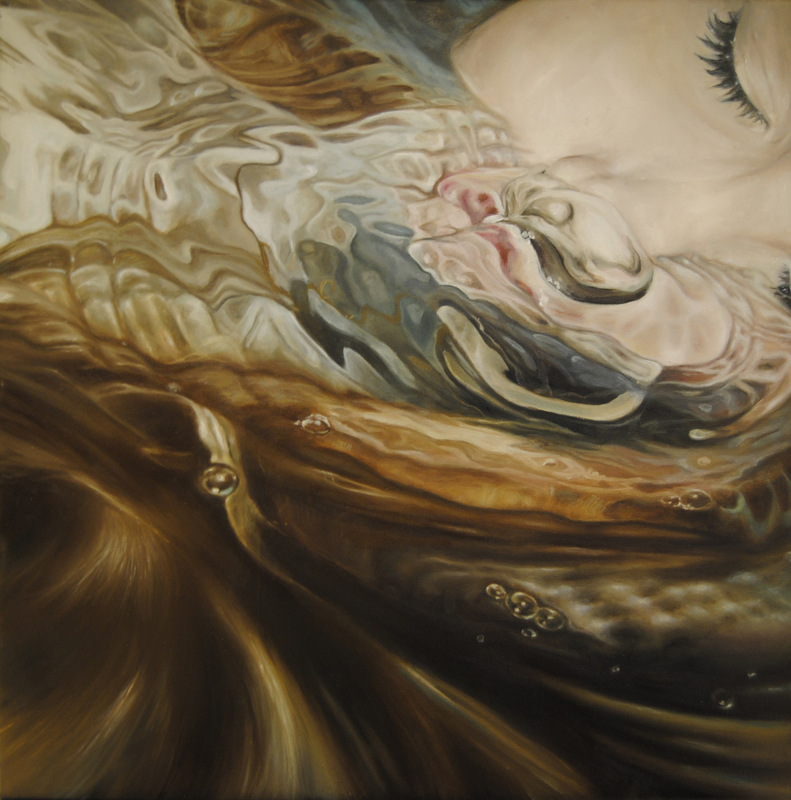 Núria Farré - Painting - Slumber - Oil on canvas 60x60cm [2013] [SOLD]