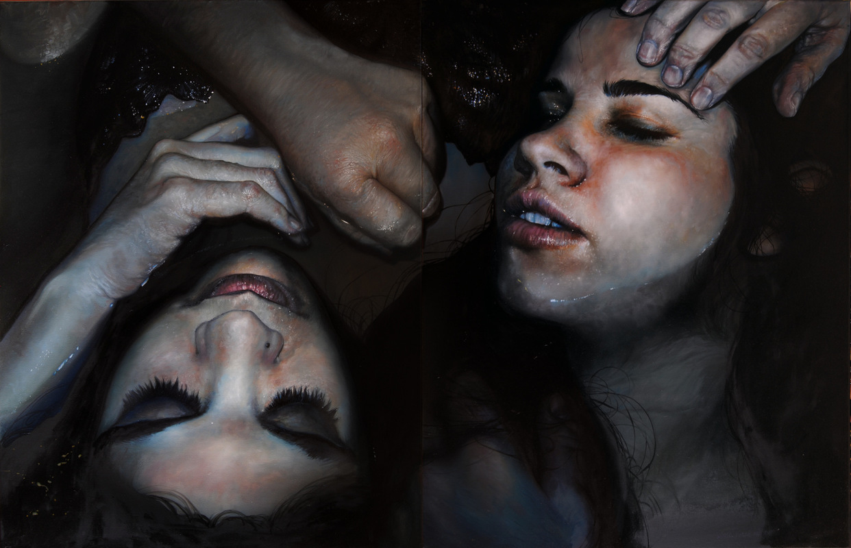 Núria Farré - Painting - El Sueño de Abraxas - (diptych) Oil on canvas 116x178cm [2016]