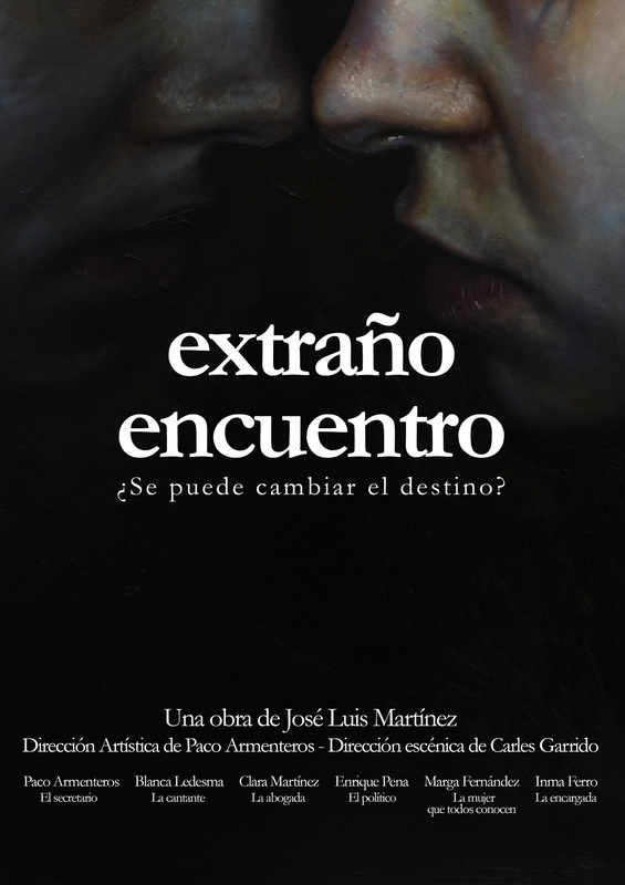 Núria Farré - Painting - Poster for the theater production Un Extraño Encuentro (2017)