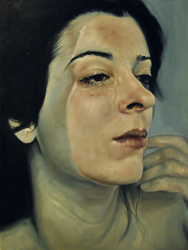 Núria Farré - Painting - Ingrid I, oil on board 40x30cm [2015]