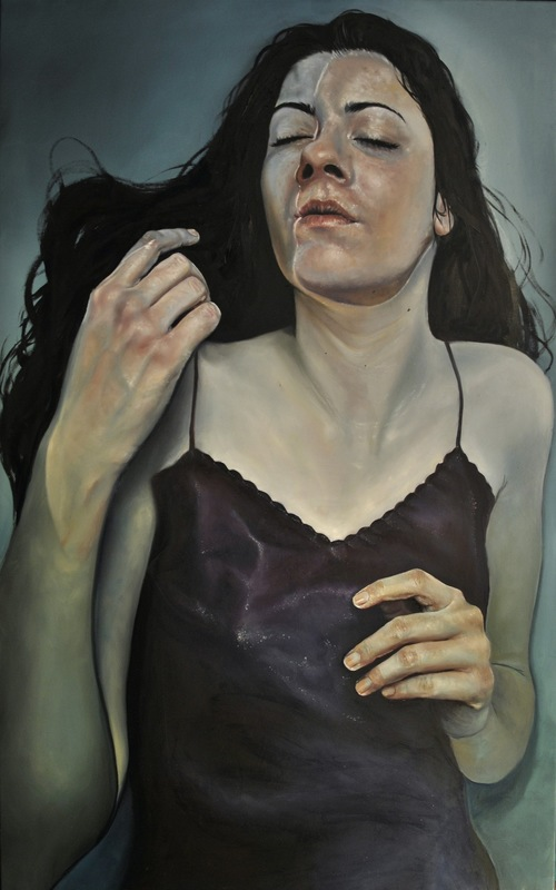 Núria Farré - Painting - The unspeakable fantasy of a she-wolf - oil on canvas 97x130cm [2015]