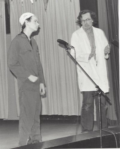 "Peter Stax - 1980 - 1982 Schoolcabaret ""Simpellach"", Dr. Knippenberghcollege, Helmond"
