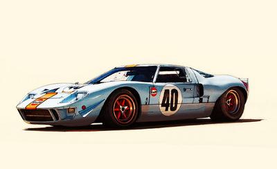 Boris Blauth Art - Ford GT 40 - Gulf Oil