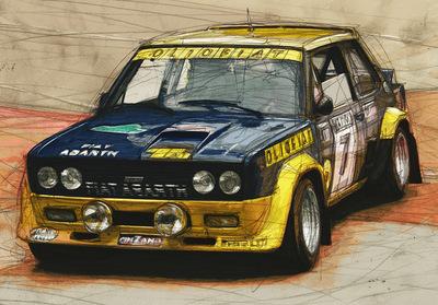 Boris Blauth Art - Fiat 131 Abarth