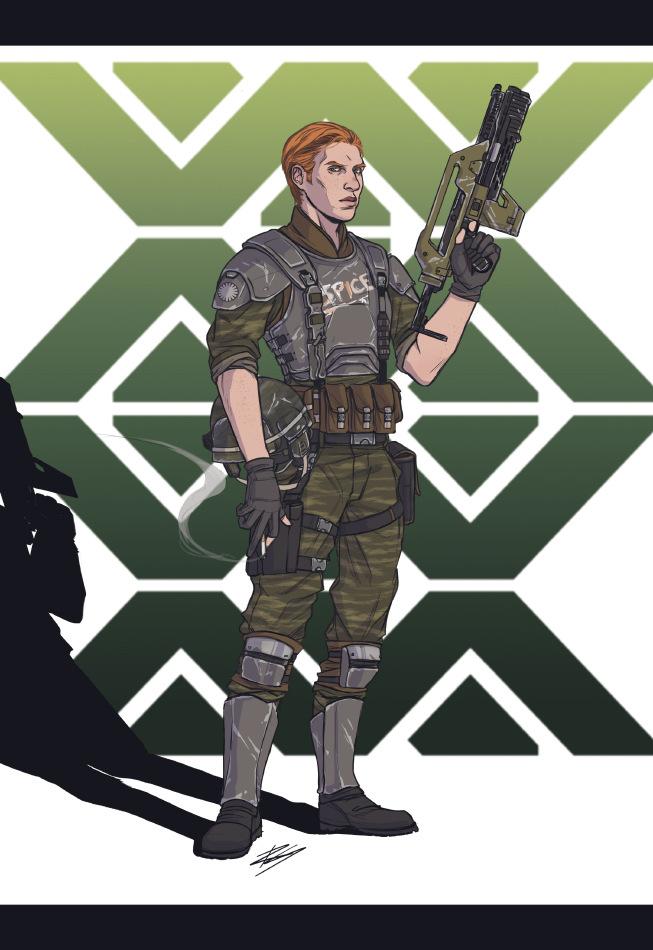 Romina Scagliarini - Alien OC characters  Fanart  Drawn in PS