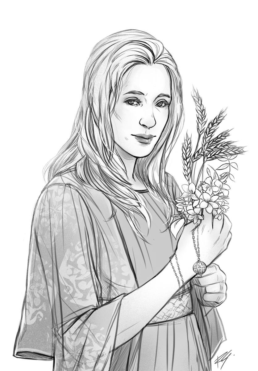 Romina Scagliarini - LARP character  Commission  Drawn in PS