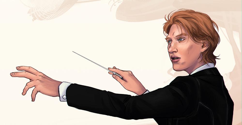Romina Scagliarini - The Conductor  Commission  Drawn in PS