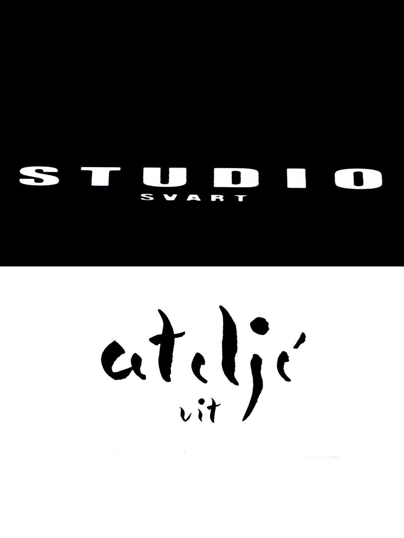 studio svart ateljé vit