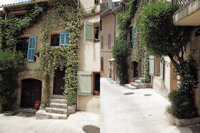 studio svart ateljé vit - Village Street in Provence