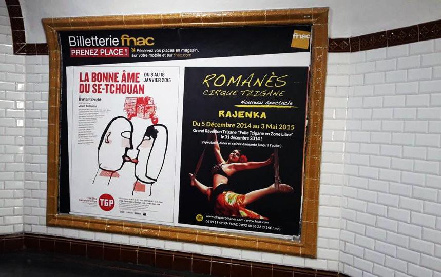 Isabelle Secher - Affiche, Campagne FNAC, Cirque Romanès