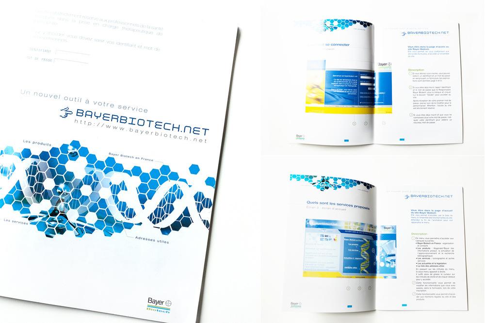 Isabelle Secher - Bayerbiotech.net, outil réservé aux professionnels de la santé. Plaquette de présentation.