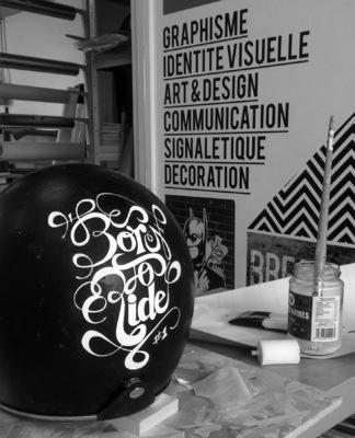 Benoît CHADIAN Graphiste - Peinture réalisée sur casque.