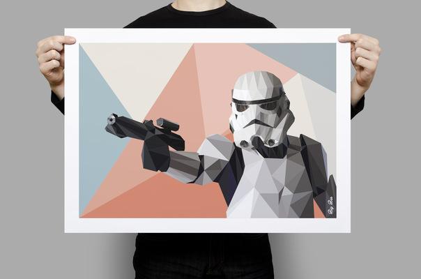 Benoît CHADIAN Graphiste - Impression poster - travail personnel - Star wars - Polygone Art