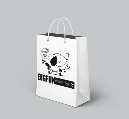Benoît CHADIAN Graphiste - Shopping Bag pour la marque Cherry Dog - Vente daccessoires canins - Web - Lyon - www.cherrydog.fr