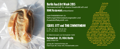 food art week - Tina Zimmermann & Isabel Ott
