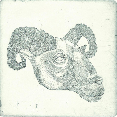Seppo Alanissi - untitled etching 8 * 8 cm
