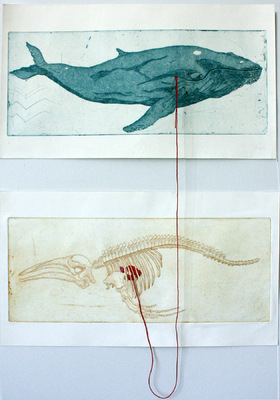 Seppo Alanissi - Got One etching & thread