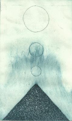 Seppo Alanissi - untitled etching & aquatint, monoprint 20 * 12 cm