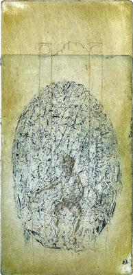 Seppo Alanissi - Taustalla / Background intaglio 24 * 12 cm