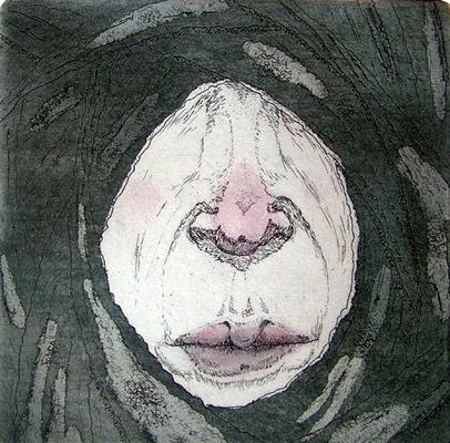 Seppo Alanissi - untitled etching & aquatint 10 * 10 cm