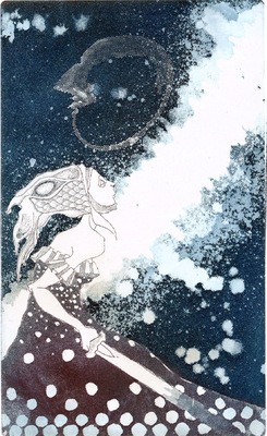 Seppo Alanissi - untitled etching, aquatint & photoetching 20 * 12 cm
