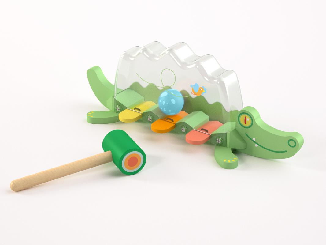 Christophe Gilet Design - 2013 Crocodile wood & plastic -Djeco