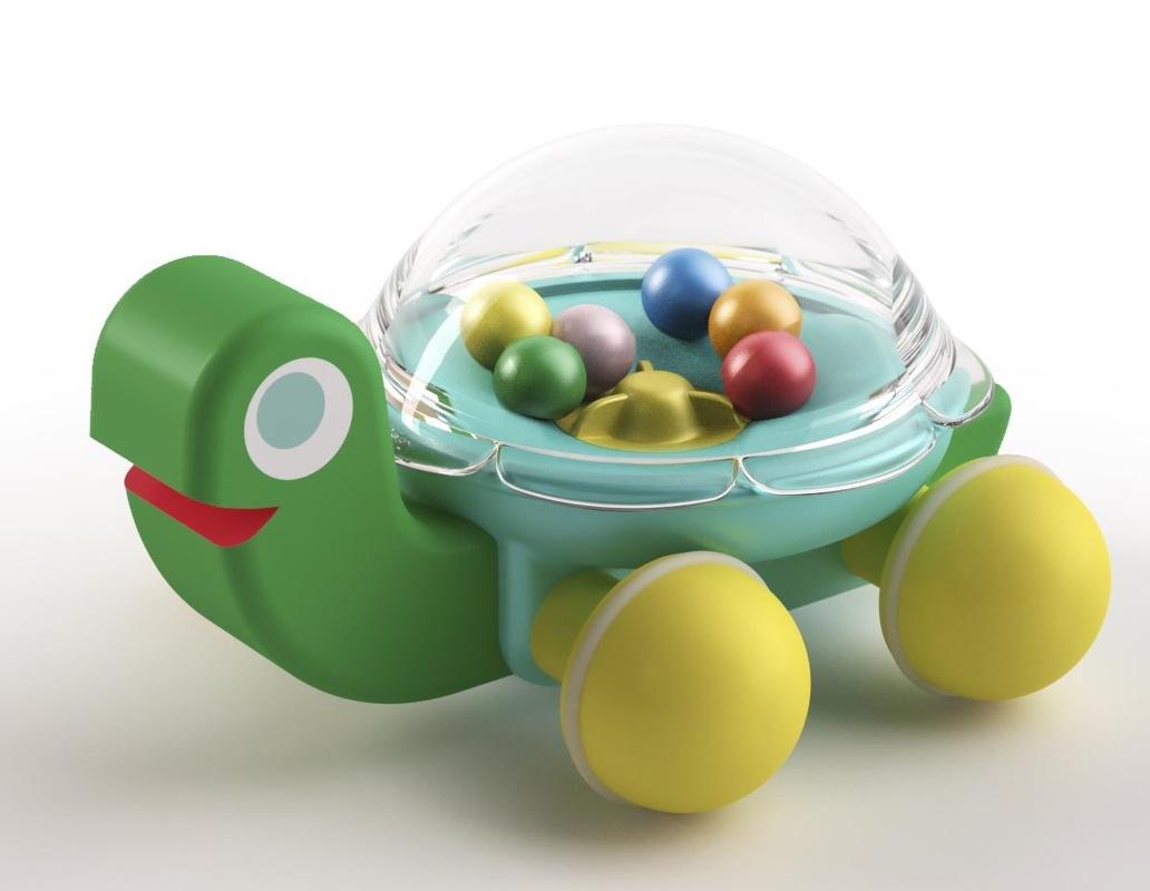 Christophe Gilet Design - 2013 Turtle in wood & plastic - Djeco