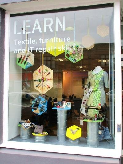 WINDOW DISPLAYS I EVENT STYLING I PROPS I CUSTOM ARTWORK I EDINBURGH - Edinburgh Remakery Window Design