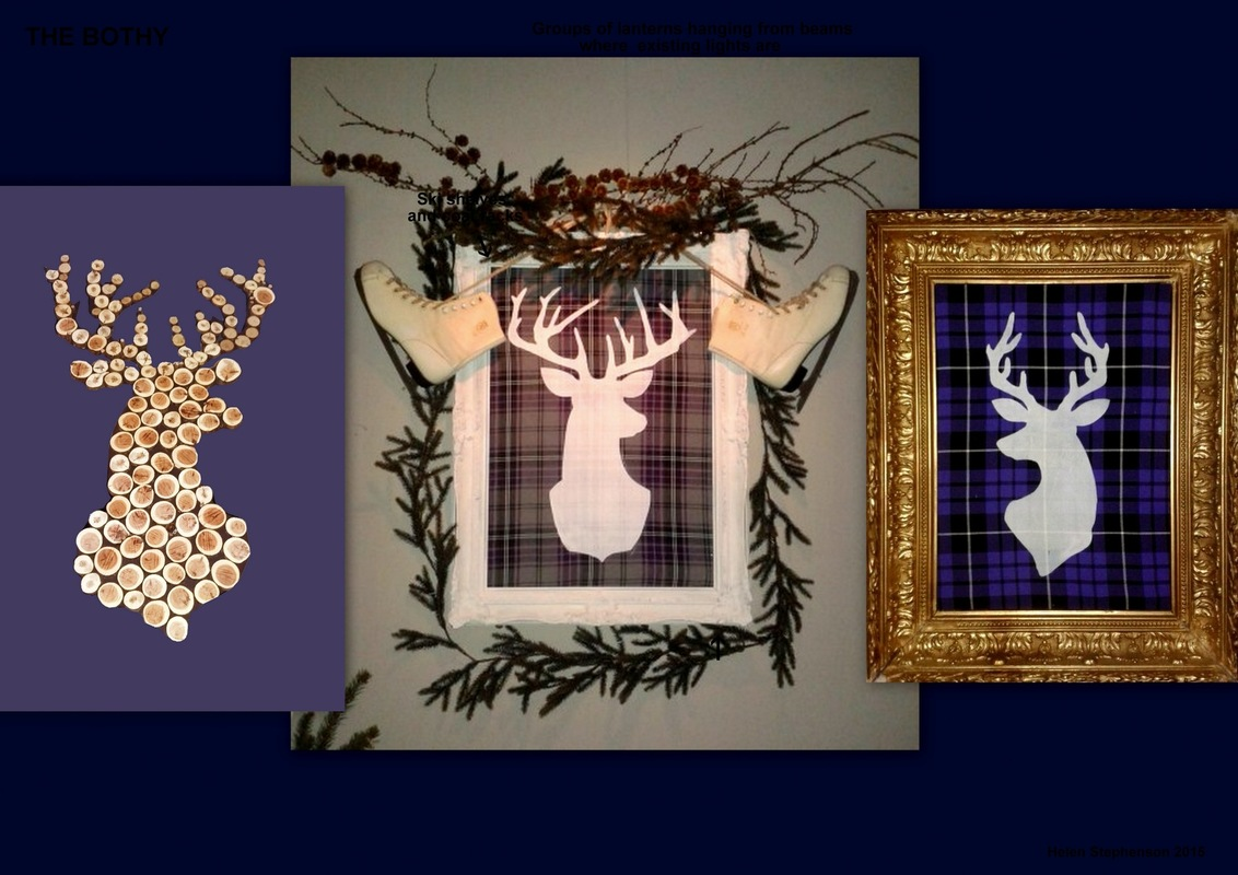 WINDOW DISPLAYS I EVENT STYLING I PROPS I CUSTOM ARTWORK I EDINBURGH - Gotta love a Stags heid !