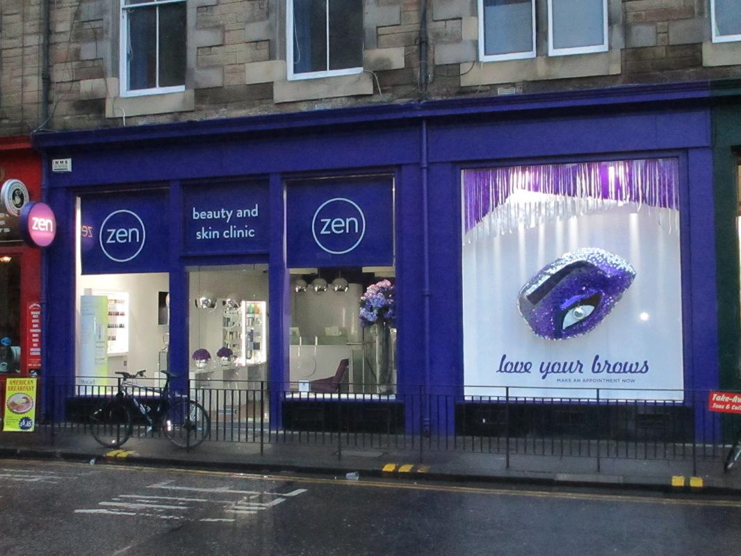 WINDOW DISPLAYS I EVENT STYLING I PROPS I CUSTOM ARTWORK I EDINBURGH - Zen Beauty Lifestyle,Teviot Place, Edinburgh