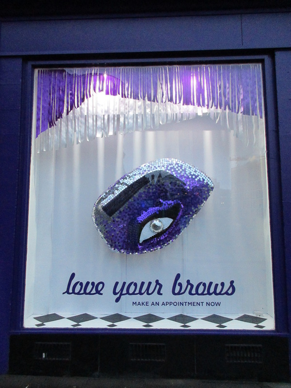 WINDOW DISPLAYS I EVENT STYLING I PROPS I CUSTOM ARTWORK I EDINBURGH - LOVE YOUR BROWS window display, January 2017
