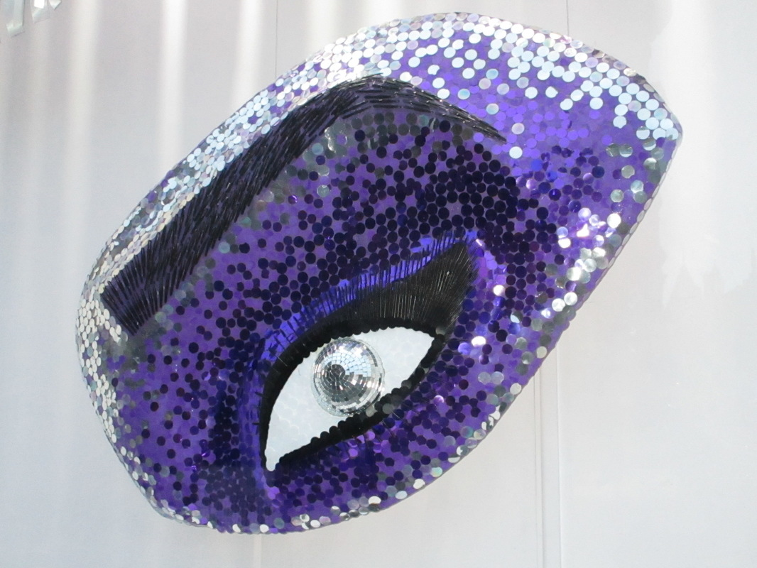 WINDOW DISPLAYS I EVENT STYLING I PROPS I CUSTOM ARTWORK I EDINBURGH - Sequins, tweezers and eyelash wands bring this eye to life
