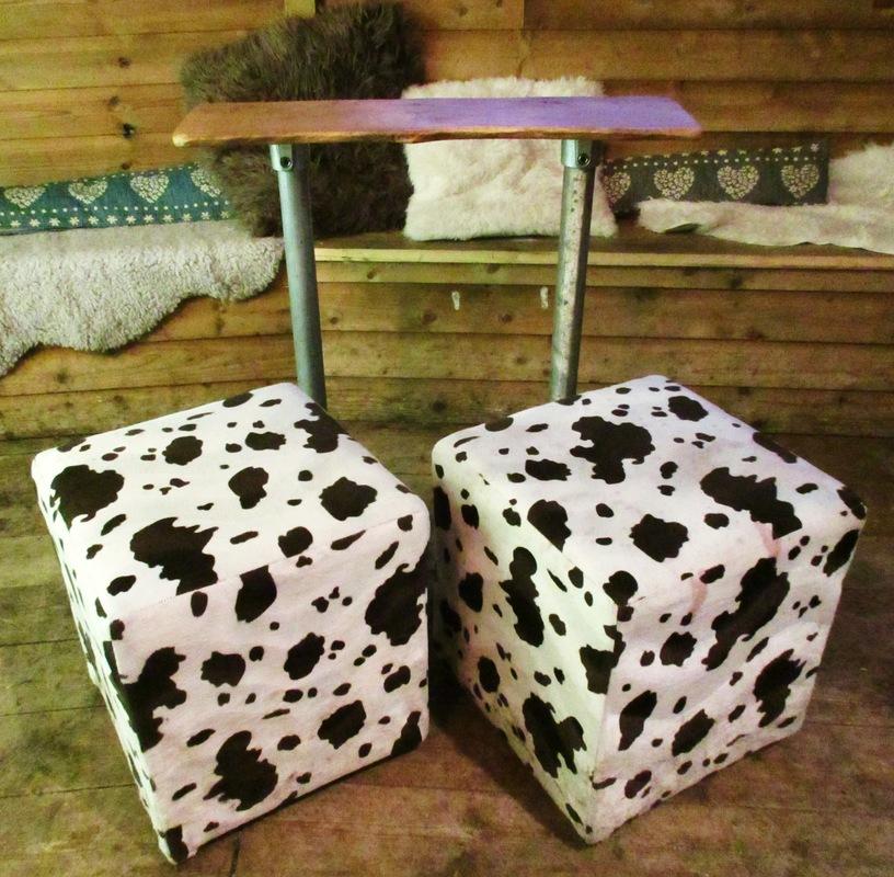 WINDOW DISPLAYS I EVENT STYLING I PROPS I CUSTOM ARTWORK I EDINBURGH - Beautiful oak bar tables and faux fur upholstered stools