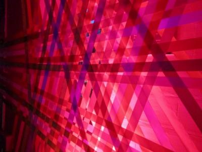 WINDOW DISPLAYS I EVENT STYLING I PROPS I CUSTOM ARTWORK I EDINBURGH - Neon Ribbon Gilded Balloon 2016