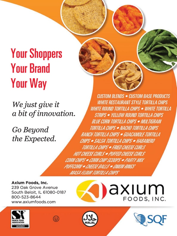 Brad Hofbauer - Graphic Design & Photography - Axium Foods - Magazine ad