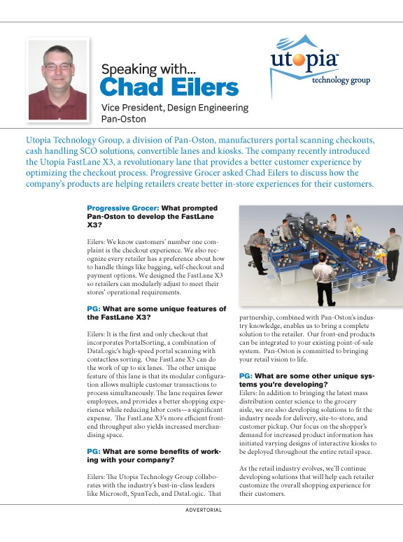 Brad Hofbauer - Graphic Design & Photography - Utopia Technology Group - Magazine advertorial