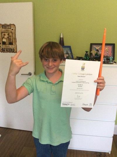 Pro Play Music - Sam Branch Age: 11 Skill Level: Grade 8 Grades achieved:1-6