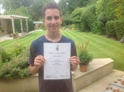 Pro Play Music - Zachery Gordon Age: 15 Grade 8 Distinction