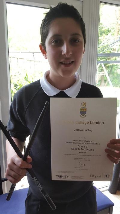 Pro Play Music - Josh Harthog Age:12 Grade 8 Distinction