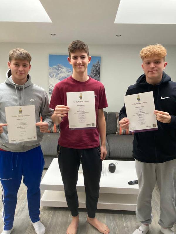 Pro Play Music - Harry, Joe, Sam Abrahams All grade 8 qualified 2020