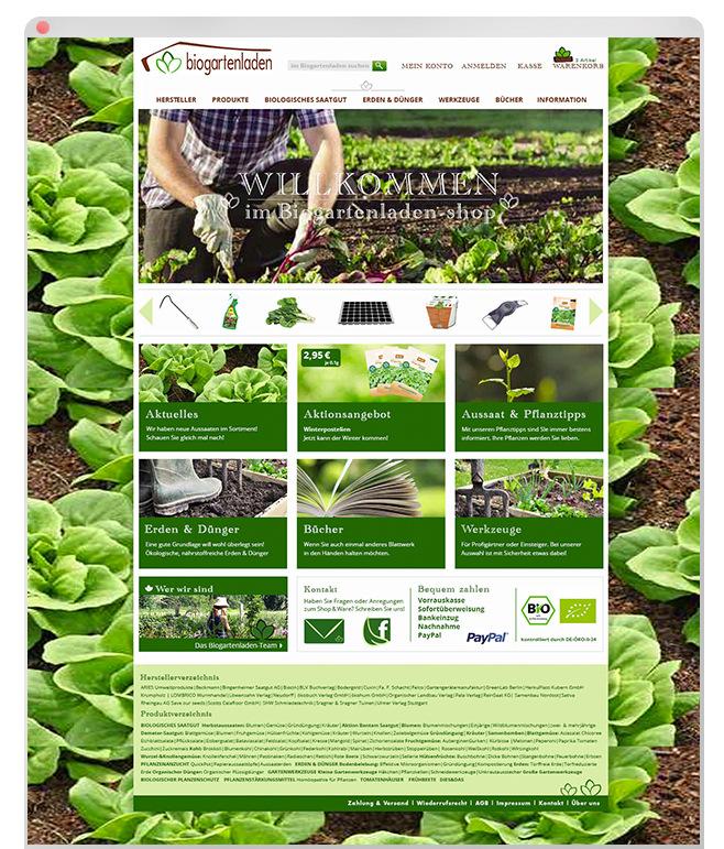 Lorem Ypsum - Biogartenladen Über: Biologisches Gartenzubehör, Pflanzsamen, Werkzeuge, Onlineshop Layout Struktur Reinzeichnung http://www.biogartenladen.de/