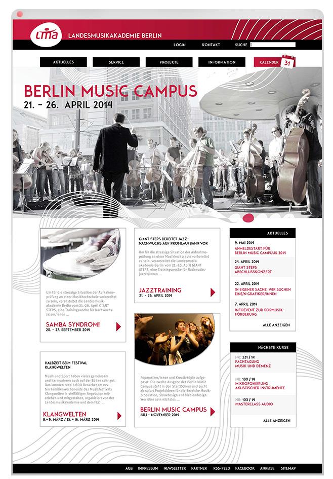 Lorem Ypsum - Landesmusikakademie Berlin Über: Ausschreibung zur Neugestaltung von Webseite, Flyer, Jahresprogramm. 3. Platz Konzept   Umsetzung Projekt bei: Zeichen&Taten