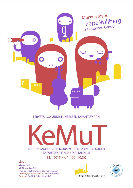 Lorem Ypsum - KeMuT Thema: Poster für ein Konzert von Behinderten in der Kellohalli in Helsinki. Idee   Illustration Projekt bei: Dog Design