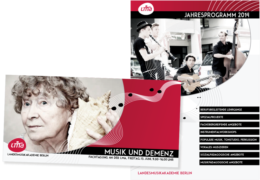 Lorem Ypsum - Landesmusikakademie Berlin Thema: Ausschreibung der Landesmusikakademie zur Neugestaltung von Webseite, Flyer und Jahresprogrammheft. 3. Platz. Layout | Umsetzung Projekt bei: Zeichen & Taten