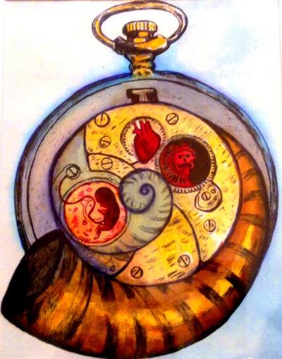Tekolotl - ArtWork - Reloj de bolsillo