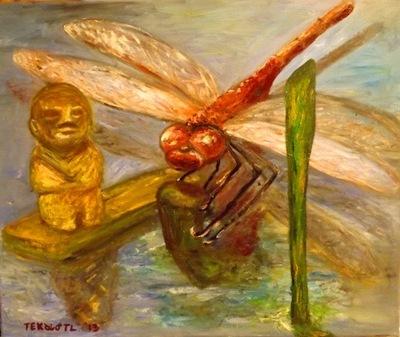 Tekolotl - ArtWork - La libélula y el testigo del tiempo